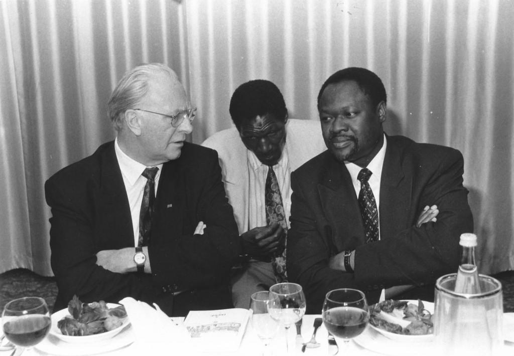 PK Qu 1997 Besuch burkinischer Außenminister, mit OB Groß
