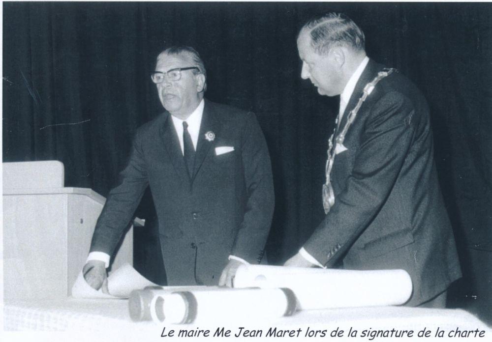 Vence Vertragunterschrift 1970